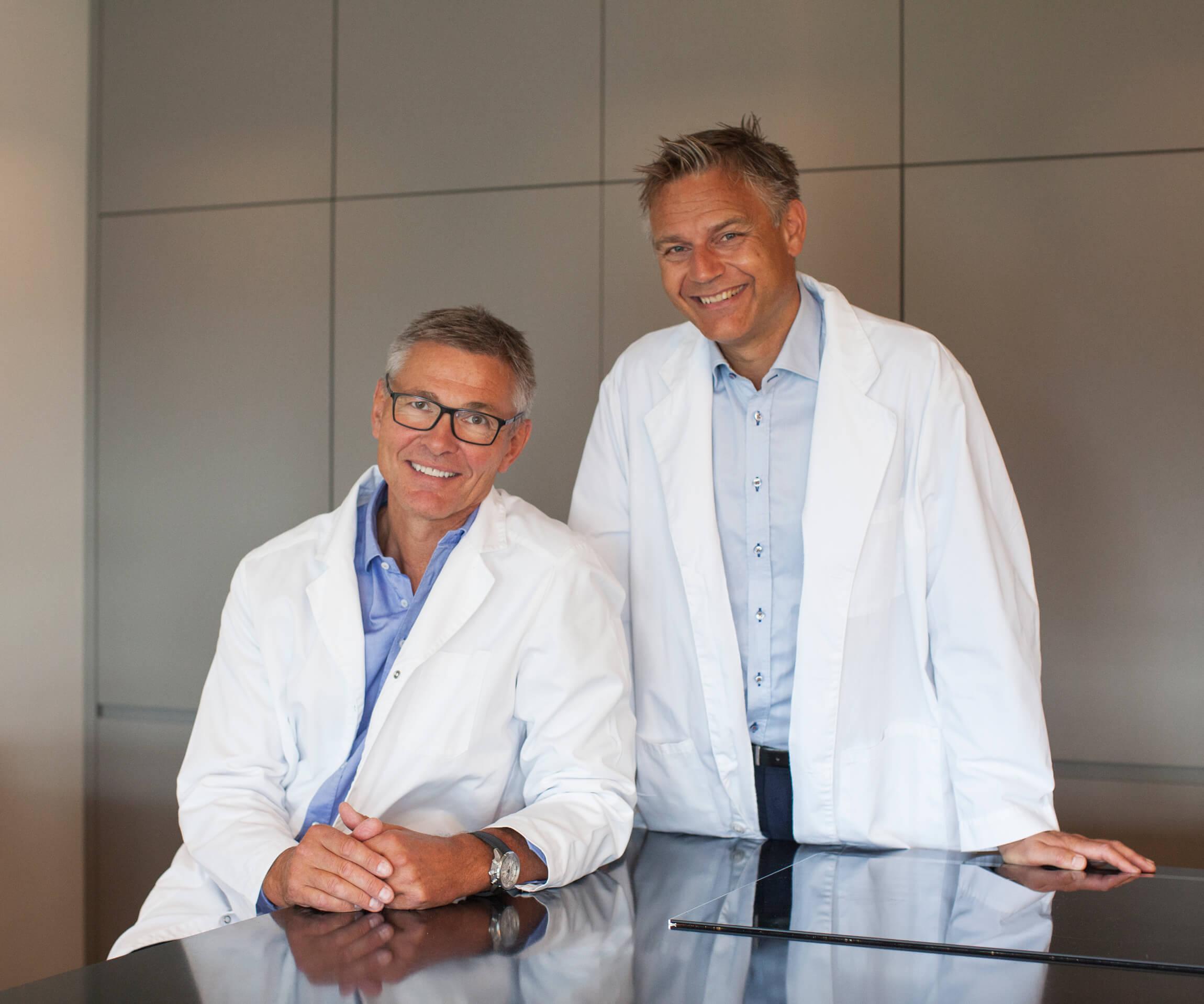 Plastikkirurgene Tom I Ørner og Christian Busch